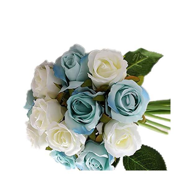 12pcs / Set Rose Que sostiene Las Flores del Ramo de Novia de la Boda fotografía apoya Flores Artificiales Falsos fgyhty
