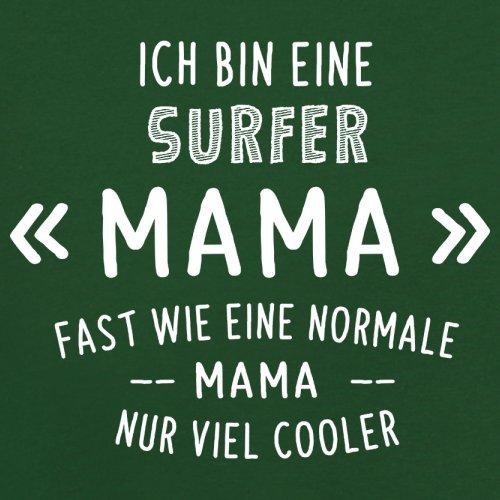 Ich bin eine Surfer Mama - Herren T-Shirt - 13 Farben Flaschengrün