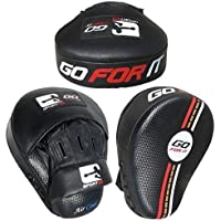 Go for it Almohadillas de Enfoque para Boxeo, Hook Jab Kick Karate, Curvas, Color Blanco y Negro
