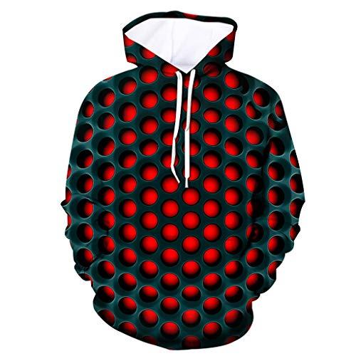 ☆Elecenty☆ Unisex 3D Print Pullover Pullover Shirt Hoodies Männer Frauen Pullover Kapuzenjacke Sweatershirt Tops mit Tasche -