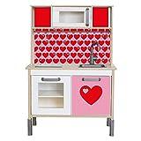 Limmaland Klebefolie byGraziela byGraziela Herz passend für Deine IKEA Kinderküche DUKTIG (Farbe Rosa/Rot) - Möbel Nicht inklusive