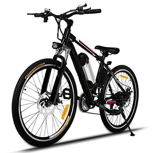 Lonlier Mtb 26 pollici bici elettrica Lega di alluminio con Batteria al litio: 36V/8AH e motore brushless 250W