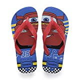 Havaianas Kids Cars, Infradito Unisex Bambini, Multicolore (Blue Star/Ruby Red 1111), 33/34 EU