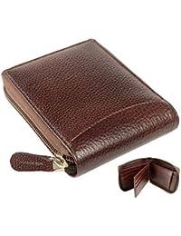 mtuggar Men's Leather RFID Protected Wallet (Brown)