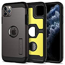 Spigen [Tough Armor iPhone 11 Pro Max Case Cover with Shockproof Air Cushion and Kickstand Compatible with Apple iPhone 11 Pro Max (2019) - Gunmetal