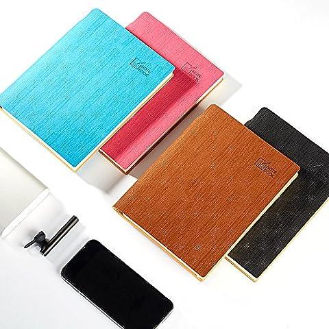 Zhi Jin Texture spéciale Cuir ordinateur portable Journal Couverture rigide Carnet de notes Agenda Dos Pen Holder Bureau Business marron