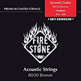 Fire and Stone 665580 Cordes pour Guitare Acoustique Jeu 80/20 Bronze