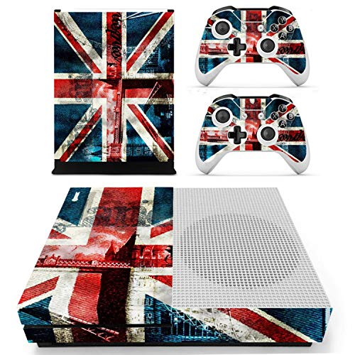 Price comparison product image FLY-happiness The Union Jack Vinyl Skin Sticker for the Xbox One S Console With Two Wireless Controller Decals