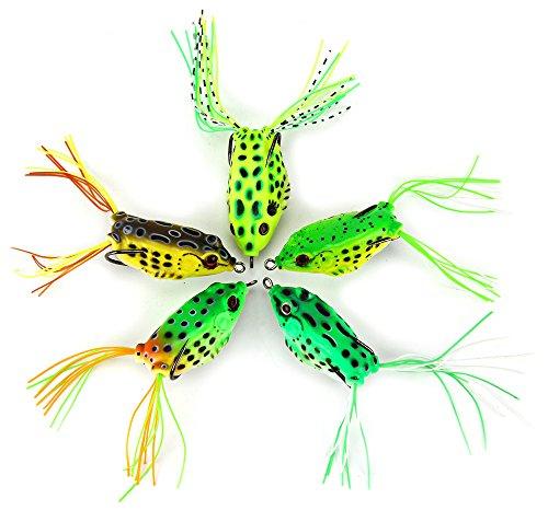 yooyoo-5pcs-morbida-rana-topwater-pesca-lure-55-cm-esche-gancio-crankbait-bass