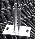 Bodenplatte Fußplatte Dübelplatte Zaunpfosten Adapter Zaunzubehör gerate Verzinkt Zaunzubehör Zaunpfosten Zubehör Zaun Pfostenzubehör