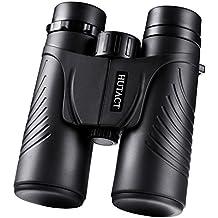HUTACT Binocolo Professionale,Grandangolari, Birdwatching per Viaggiatori, 10X42 in HD, più luce e dettagli, a prova di acqua e polvere