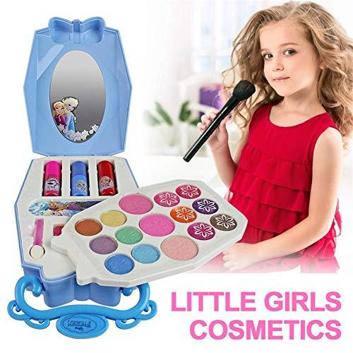 22PCS Disney eiskönigin schminkkoffer Kinderkosmetik-Kit Schminkset Kinder Schminkkoffer Mädchen...