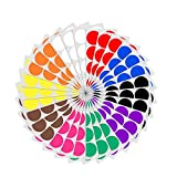 5cm Runde Punktaufkleber Farbkodierung Etiketten Markierungspunkte