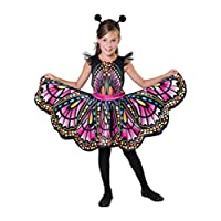 Bristol Novelty CF100 Butterfly Costume, Girls, Multi-Colour, Small
