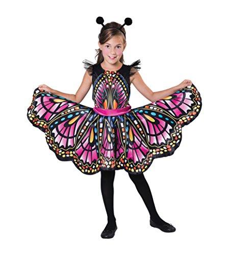 Kostüm Schmetterling Kopfbedeckung - Bristol Novelty CF101Schmetterling ca. 5-7Jahre, Mädchen, Mehrfarbig, Medium