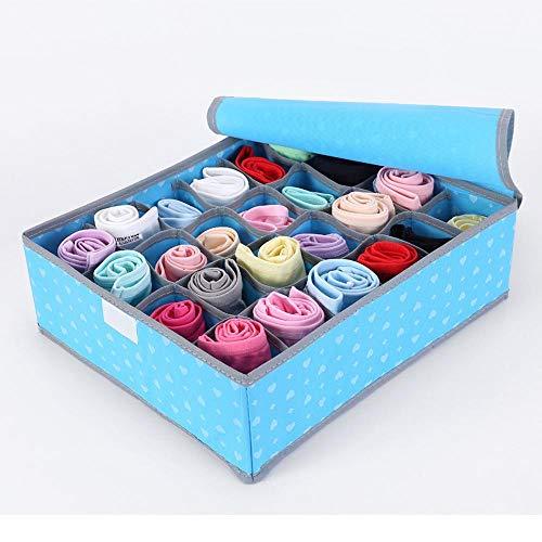 Kaige Wäschekorb Non-Woven-Storage Box Socken Unterwäsche Multi-Gitter Verpackung Box kleine Aufbewahrungsbox Woven Storage-boxen