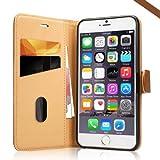 iPhone 6s/6 Plus Hülle, Apple iPhone 6 Leder Handy Tasche Case Flip Cover Etui,Labato® WEICH Leicht Aufstellfunktion Visitenkartenfach SchutzhülleLedertasche Lederhülle Handyhülle Handytasche Hüllen für iPhone 6S Plus Zubehör braun Lbt-I6L-04Z20