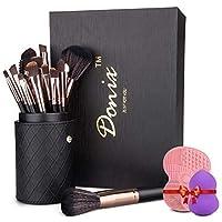 Set de Brochas Maquillaje Profesional 22 Piezas Donix Pinceles Maquillaje de Cerdas de Fibra Sintética Suave