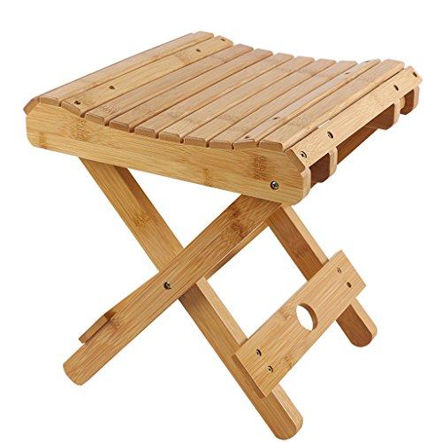 CKH Bambus Klapphocker Portable Haushalt Massivholz Mazar Outdoor Angeln Stuhl Kleine Hocker Hocker Hocker