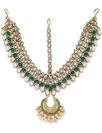 Zaveri Pearls Ethnic Gold Tone Matha Patti Maangtikka For Women-ZPFK6982