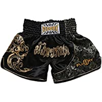 FLUORY Muay Thai Combat Shorts, Short MMA Vêtements d'entraînement Cage Fighting Lutte Arts Martiaux Kick Boxing Short Vêtements
