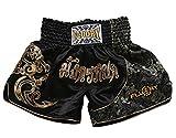 FLUORY da Combattimento Muay Thai, MMA Pantaloncini Abbigliamento Training Cage Fighting Grappling Arti Marziali Kickboxing Pantaloncini Abbigliamento, MTSF15JINLONG, Small