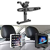 Supporto Tablet Auto, POMILE Rotazione di 360 ° Supporto per Poggiatesta Auto per Lettori DVD Portatile, iPad da 7-12 Pollici Pro/iPad Air/iPad Mini, Tablet, Samsung Galaxy Tab, Kindle Fire