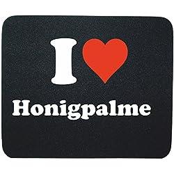 """Exklusive Geschenkidee: Mauspad """"I Love Honigpalme"""" in Schwarz, eine tolle Geschenkidee die von Herzen kommt- Rutschfestes Mousepad- Weihnachts Geschenktipp"""