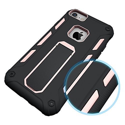 iPhone 7 Plus /6S Plus Universal Case Hülle mit Klappständer,EVERGREENBUYING Hybrid Schein iPhone 7+ Tasche Ultra-dünne Schutzhülle Case Cover mit Ständer Etui für iPhone 6 Plus / 7 Plus Blau Rosa