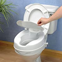 Savanah Raised Toilet Seat with Lid - 4 Inch Healthcare