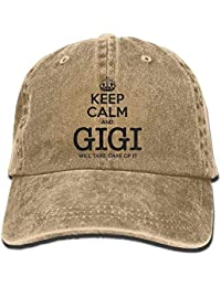JIEKEIO Funny Baseball Caps Hats Adult Cowboy Cap Hat Keep Calm Gigi Will Take Care of It Adjustable Cotton Denim…