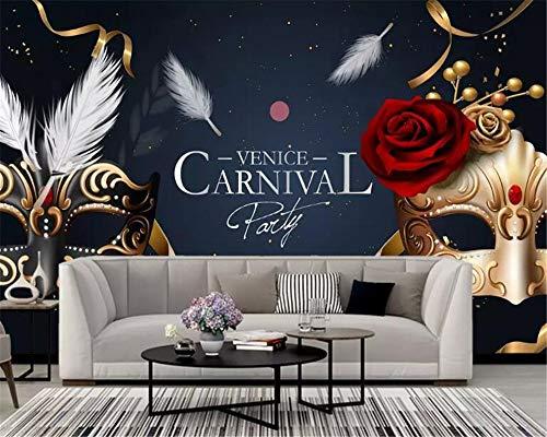 enbahn Wand Benutzerdefinierte Maske Party Champagner Ball Tapete Wand 3D Dekorative Wandbild Ktv Cafe Wand, 368 cm * 254 cm (H) ()