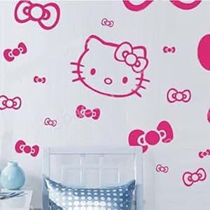 wandaufkleber wandtattoo wandsticker wallsticker kinderzimmer hello kitty kt029. Black Bedroom Furniture Sets. Home Design Ideas