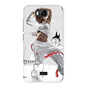 Luxirious White Dance Red Ribbon Back Case Cover for Honor Bee