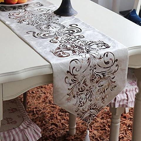 LD&P Europäische klassische Druck-Tabelle Läufer Mode Hause Bett Flagge Tabelle Fahne Hochzeit Partei Geschenk (Schuhkarton-geschenke Für Weihnachten)