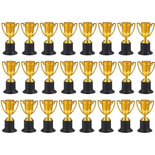 Juvale Trophäen - 24er Pack Kunststoff Gold Pokal Cup für Sportturniere Wettkampf Party 3,9 x 10,2 x 1,9 Zoll (Kunststoff Cups Gold)