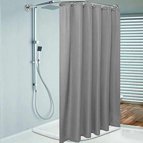 Duschvorhang Hotel Fabric (lintimes Waffel Stoff Duschvorhang, wasserdicht und Schimmelresistent, 182x 182cm (182,9x 182,9cm, 100% Polyester - grau)