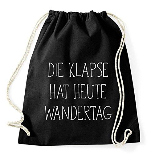 Top 10 Sprüche & Designs auswählbar / Sambosa Turnbeutel mit Spruch / Beutel: Schwarz / Rucksack / Jutebeutel / Sportbeutel / Hipster , Bag:Klapse