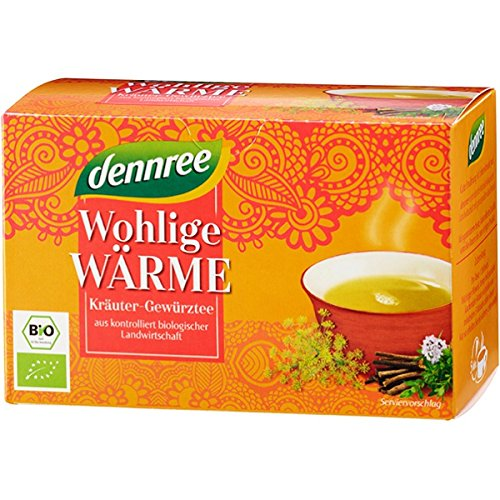 """dennree Kräuter-Gewürz-Tee """"Wohlige Wärme"""" im Beutel (20 Beutel) - Bio"""