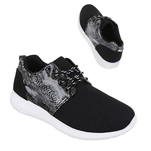 Baixo-top Sneaker Mulheres Calçam As Sapatilhas Laços De Design Ital Sapatos Casuais Preto 3