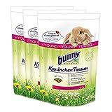 3 x 4 kg = 12 kg Bunny Kaninchen Traum Young für Zwergkaninchen bis 6 Monate