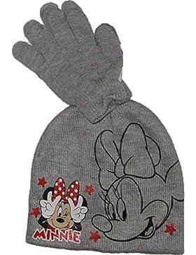 Disney Minnie Mouse invernale cappello-Guanti in Rosa, blu o grigio taglia 52 54 o di