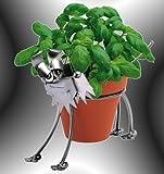 Boystoys HK Design - Blumentopfhalter Hund Metall Art Blumenhalter ca. 12 cm Durchmesser - Original Schraubenmännchen Kollektion - handgefertigte Geschenkidee