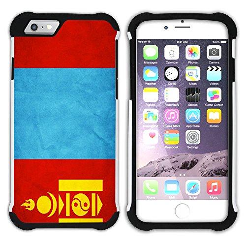 Graphic4You Vintage Uralt Flagge Von Kambodscha Kambodschaner Design Hart + Weiche Kratzfeste Hülle Case Schale Tasche Schutzhülle für Apple iPhone 6 / 6S Mongolei Mongolisch