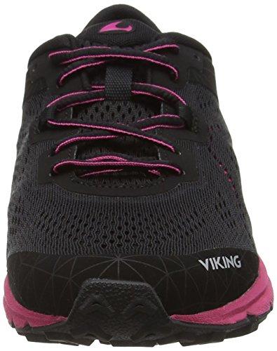 239 Medvind Dark Pink Black Chaussures Schwarz Viking de Femme Noir Trail vaaSqxA