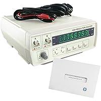 Luxtech VICTOR VC3165 Generador de Señal de función Contadores de frecuencia Contador de alta resolución con pantalla LED de 8 dígitos (kHz/Se MHz/MS) Contador de frecuencia inteligente medidor de frecuencia digital probador de frecuencia Rango de tamaño Color a Plug 0.01 ~ 50 MHz, B Plug 50 mfz ~ 2.4 GHz - AC/DC & ATT