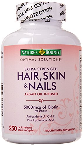 Natur Aus Biotin (Nature's Bounty Hair Skin and Nails 5000 mcg of Biotin - (Extra Strength, One Bottle of 250 Softgels))