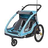 Yepp Duo Kinder-Fahrradanhänger für 1-2 Kinder (inkl. Deichsel, Kupplung, Buggyrad & Flagge)