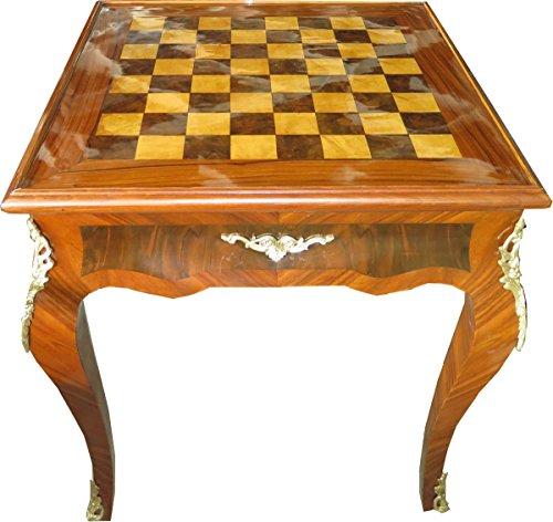 Casa Padrino Art Deco Spieltisch Schach/Backgammon Tisch Mahagoni Braun 65 x B 65 x H 71 cm - Möbel Antik Stil Barock