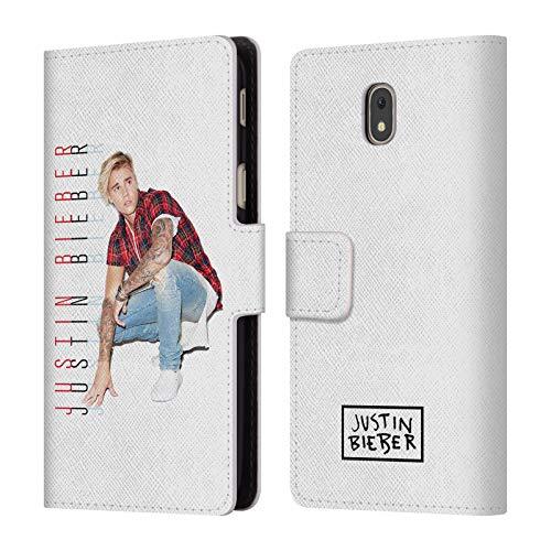 Head Case Designs Ufficiale Justin Bieber Foto E Testo Calendario Purpose Cover a Portafoglio in Pelle per Samsung Galaxy J5 (2017)